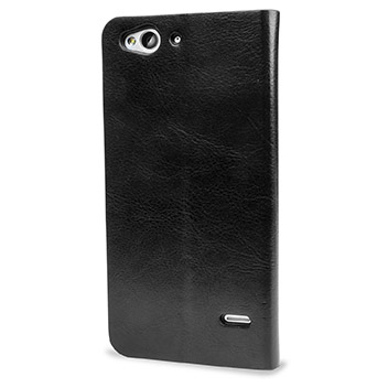 Olixar Leather-Style ZTE Blade S6 Wallet Stand Case - Black
