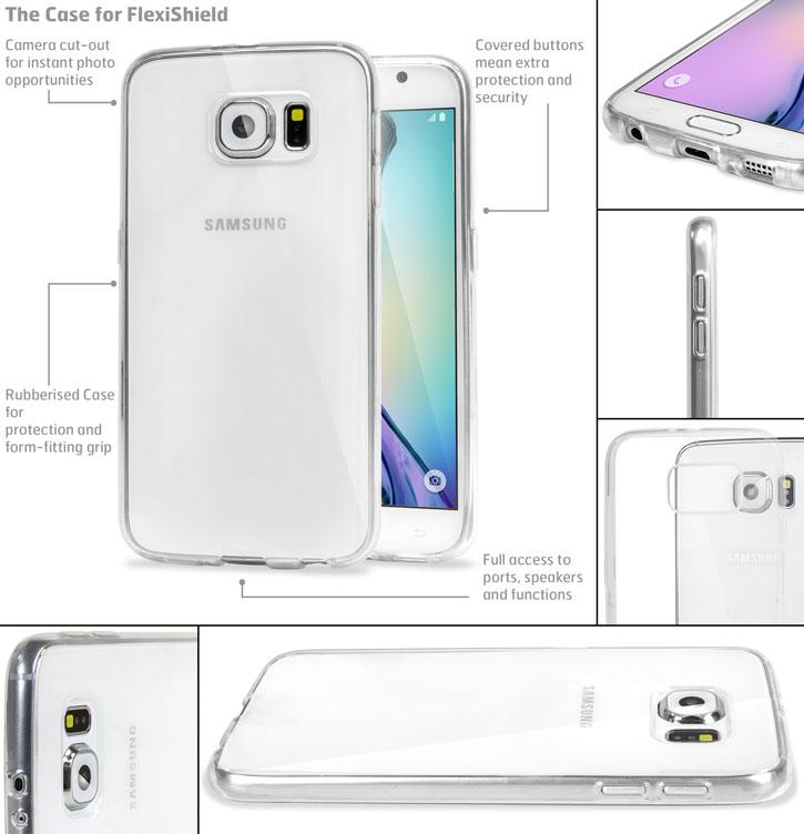Funda Samsung Galaxy S6 FlexiShield Gel - Transparente
