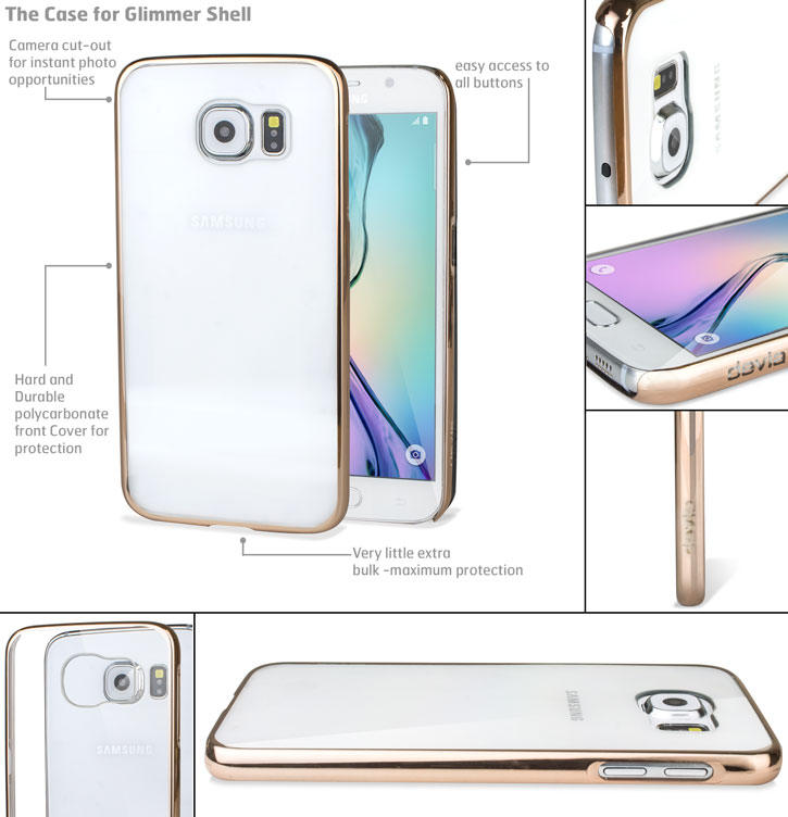 Glimmer Polycarbonate Samsung Galaxy S6 Shell Case - Gold and Clear