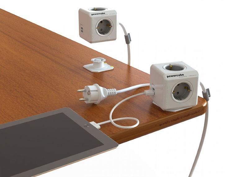 allocacoc PowerCube Extended USB 4x FR Power Plug and 2x USB - 1.5m