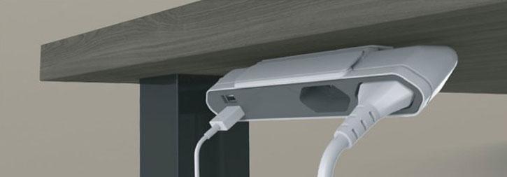 Multi prise Allocacoc 2 prises secteur + 2 prises USB extension 1.m