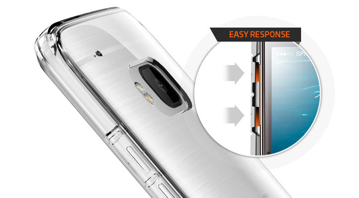 Spigen Ultra Hybrid HTC One M9 Case - Crystal Clear
