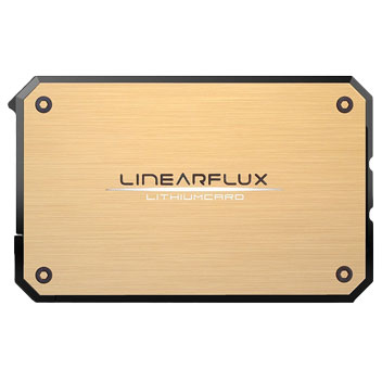 Linearflux LithiumCard Portable Power Bank With Lightning - Gold