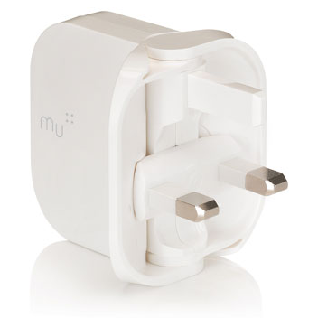 MU Tablet Foldable USB Mains Charger 2.4A  - White