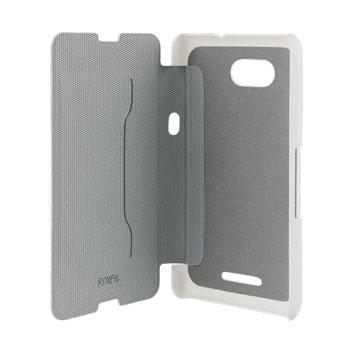 Roxfit Sony Xperia E4g Slim Book Case - White