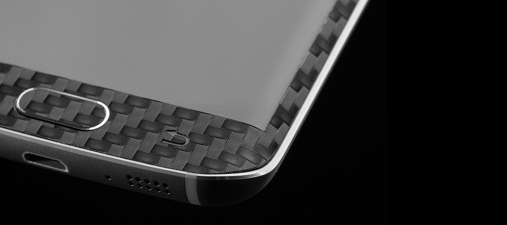 dbrand Samsung Galaxy S6 Edge Carbon Fibre Skin - Black