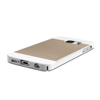 Obliq Slim Meta Samsung Galaxy S6 Case - White Champagne Gold