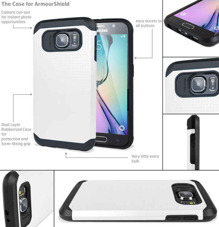 Olixar Slim Armour Samsung Galaxy S6 Case - White
