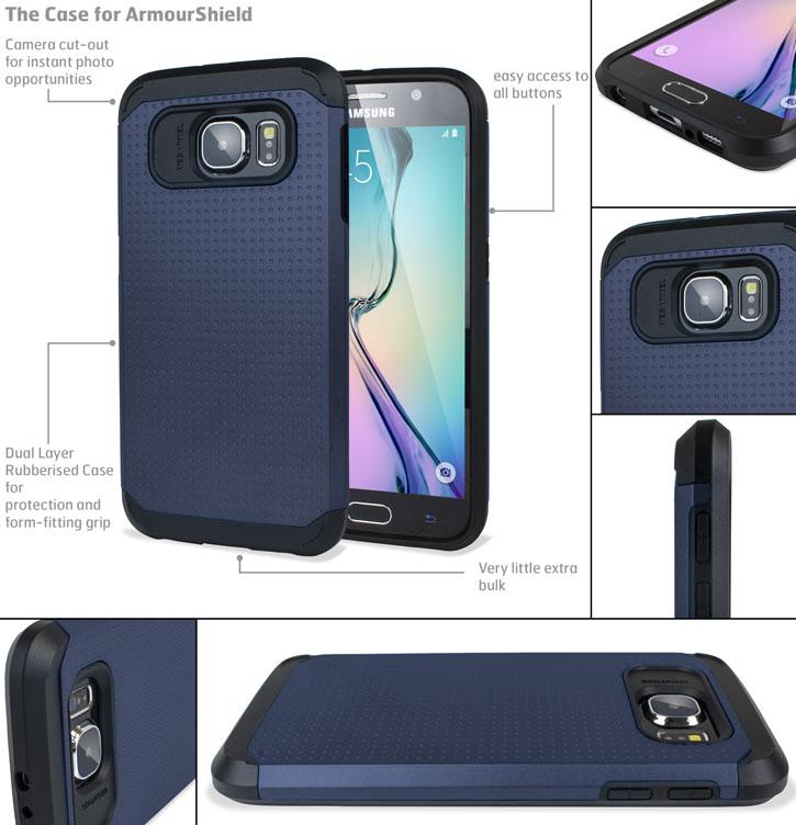 Olixar Slim Armour Samsung Galaxy S6 Case - Grey
