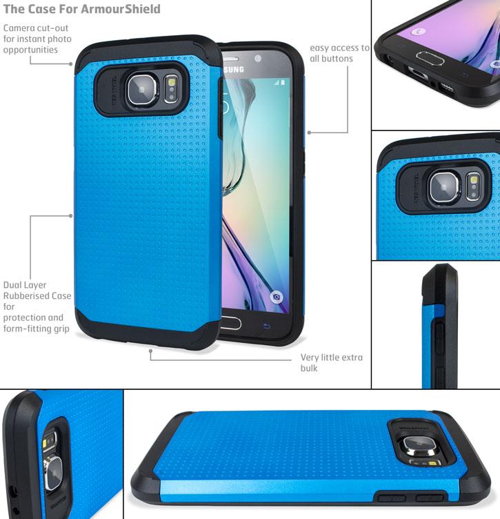 Olixar Slim Armour Samsung Galaxy S6 Case - Dark Blue