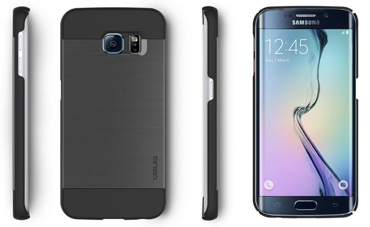 Obliq Slim Meta Samsung Galaxy S6 Edge Case - Titanium Space Grey