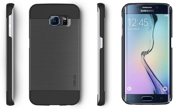 Obliq Slim Meta Samsung Galaxy S6 Edge Case - Titanium Space Grey
