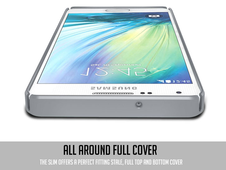 Obliq Slim Meta Samsung Galaxy A5 Case - Satin Silver