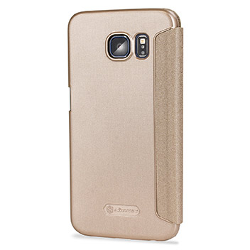 Nillkin Sparkle Big View Window Samsung Galaxy S7 Case - Gold