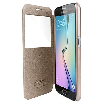 Nillkin Sparkle Big View Window Samsung Galaxy S6 Case - Gold