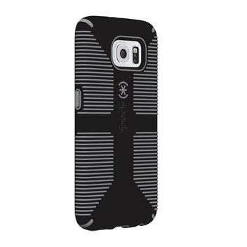 Speck CandyShell Grip Samsung Galaxy S6 Case - Black / Slate Grey