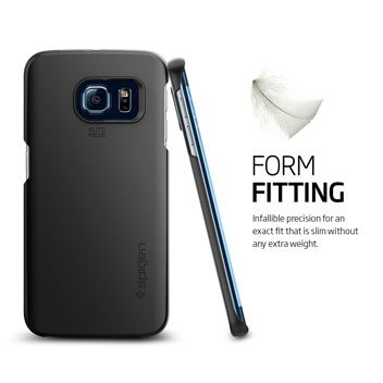 Spigen Thin Fit Samsung Galaxy S6 Edge Shell Case - Smooth Black