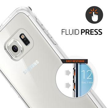Spigen Ultra Hybrid Samsung Galaxy S6 Edge Case - Metal Slate