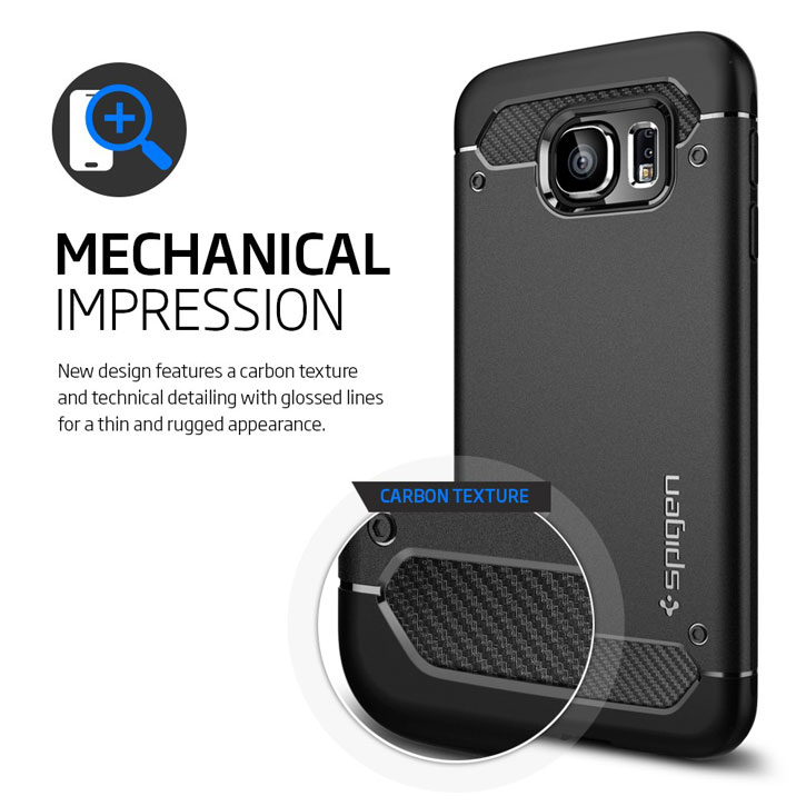 check out 74ae8 66d73 Spigen Ultra Rugged Capsule Samsung Galaxy S6 Tough Case