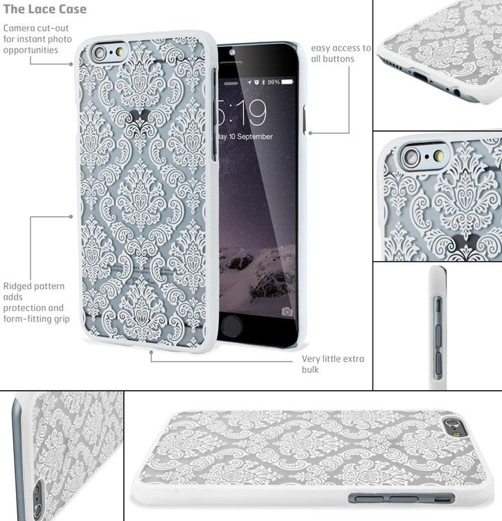 Olixar Lace iPhone 6 Case - White