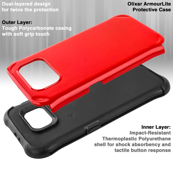 Olixar ArmourLite Samsung Galaxy S6 Case - Red