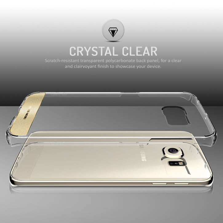 Obliq Naked Shield Samsung Galaxy S6 Edge Case - Clear-Gold