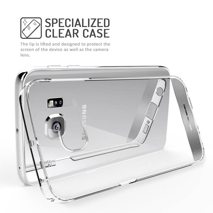 Obliq Naked Shield Samsung Galaxy S6 Edge Case - Clear-Silver