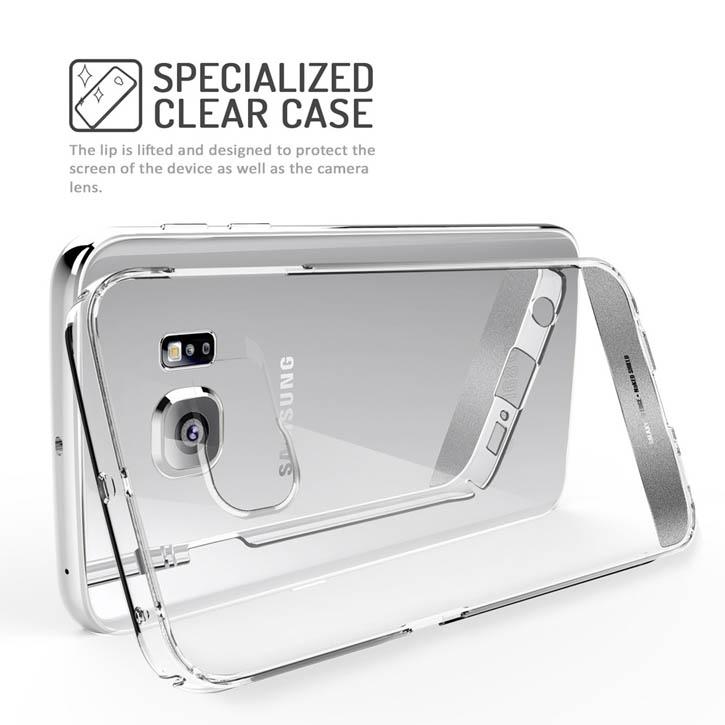 Obliq Naked Shield Samsung Galaxy S6 Edge Case - Clear-Silver