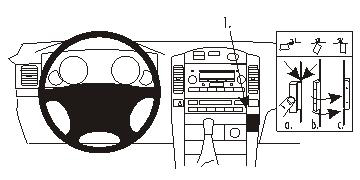 Brodit ProClip Angled Mount - Toyota LandCruiser 03-09