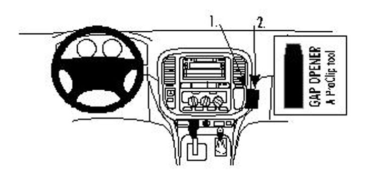 Brodit ProClip Angled Mount - Toyota LandCruiser 98-01
