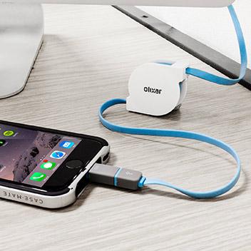 Cable Carga & Sync retractil Olixar Dual Lightning /Micro USB -1m