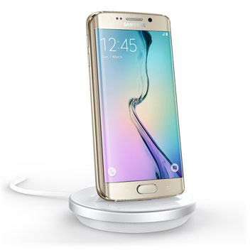 Rugged Case Compatible Galaxy S6 Edge Charging Dock - White