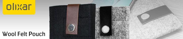 Olixar Wool Felt Pouch for Galaxy S6 / S6 Edge - Charcoal