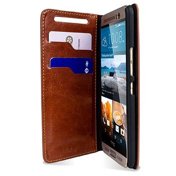 Olixar Leather-Style HTC One M9 Plus Wallet Stand Case -  Brown