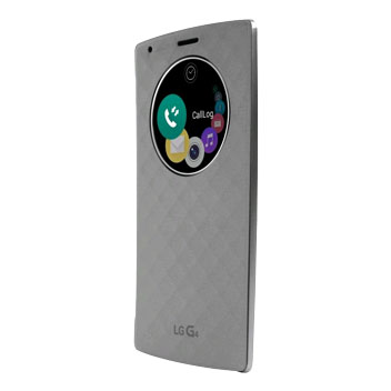 LG G4 QuickCircle Replacement Back Cover Case - Silver