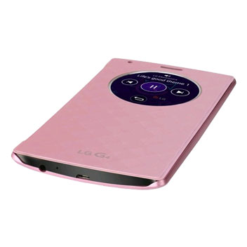 LG G4 QuickCircle Snap On Case - Pink