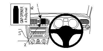 Brodit ProClip Centre Mount - Volkswagen Polo 10-15