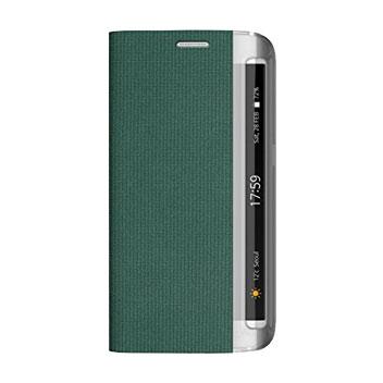 Zenus Martin Diary Samsung Galaxy S6 Edge Wallet Case - Green