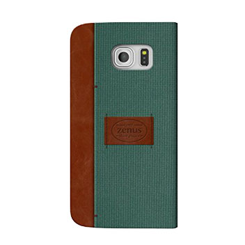 Zenus Martin Diary Samsung Galaxy S6 Edge Wallet Case - Green