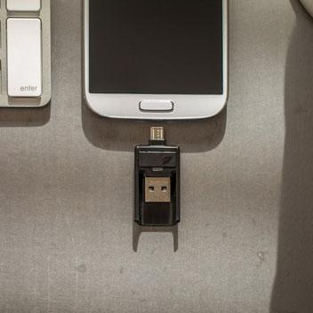 Clé Micro USB Leef Bridge 3.0 16 Go - Noire