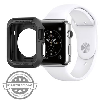 Spigen Rugged Armor Apple Series 2 / 1 Watch Case (38mm) - Black