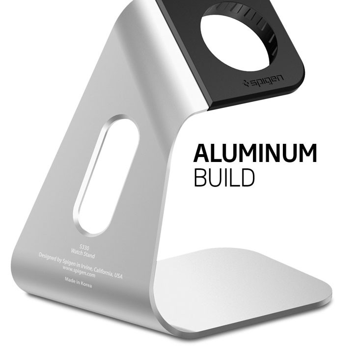Support de recharge Apple Watch 3 / 2 / 1 Spigen S330 Aluminium