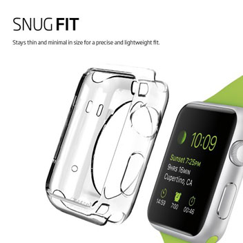 Spigen Liquid Crystal Apple Watch (38mm) Shell Case - Clear
