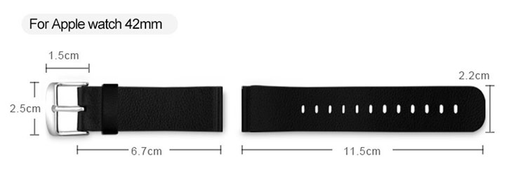 Baseus 42mm Apple Watch Leather Strap - Black