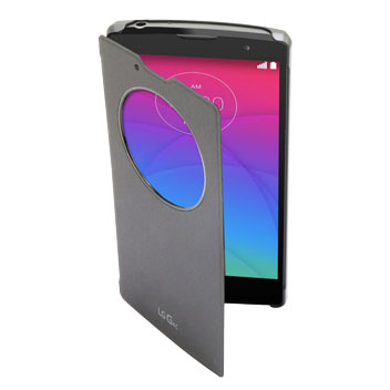 Official LG G4c QuickCircle Snap On Case - Metallic Black