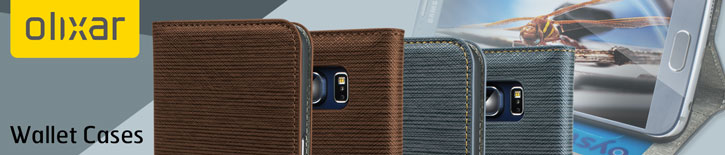 Olixar Premium Fabric Samsung Galaxy S6 Wallet Case - Light Brown