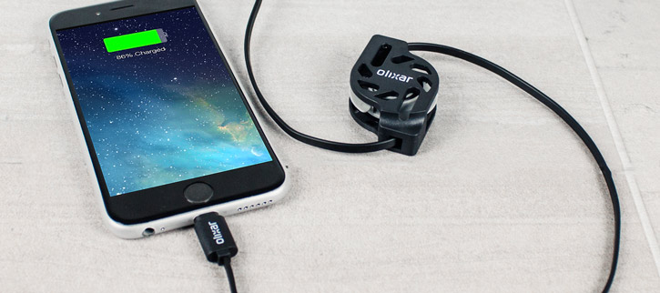 Olixar Retracta-Cable Micro USB Charge and Sync Cable - Black