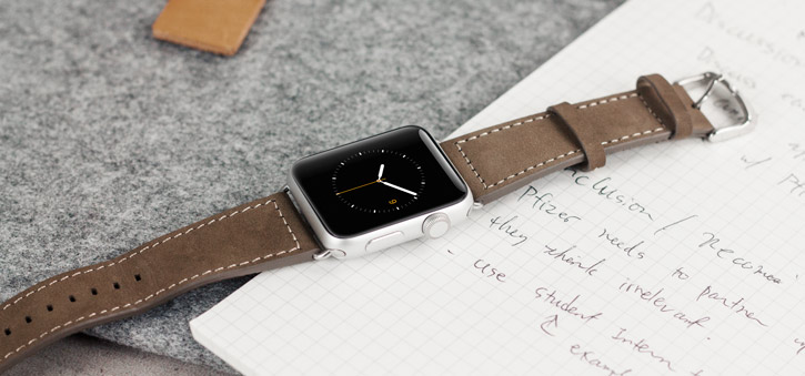 Baseus 42mm Apple Watch Leather Strap - Brown