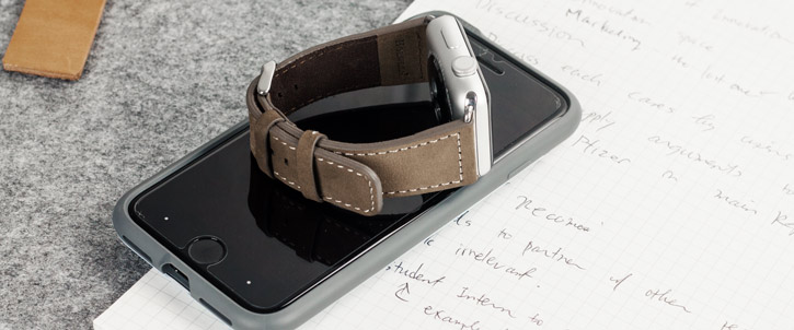 Chicago 42mm Apple Watch Series 2 / 1 Genuine Leather Strap - Brown