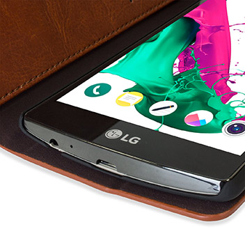 Olixar Leather-Style LG G4 Wallet Stand Case - Brown